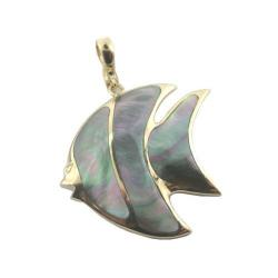Tropical Fish Gold Pendant