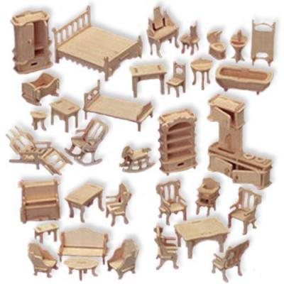 Wooden furniture set wooden furniture set for miniature house models Dollhouse wooden furniture