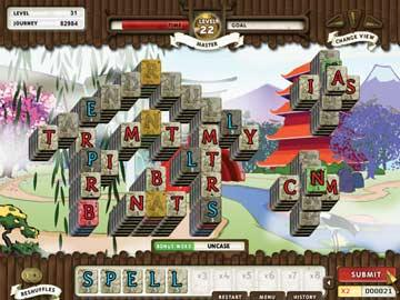 Online games. Play online Mahjong with letter tiles in your Zen Garden ...