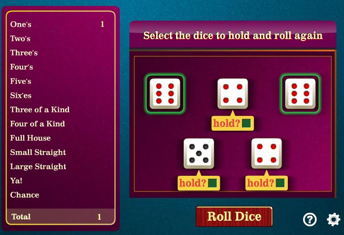 Yahtzee Play Free Online Yahtzee Games Yahtzee Game Downloads