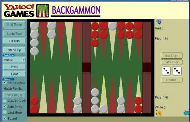 Yahoo Backgammon