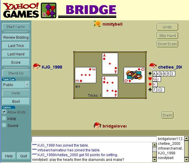 bridge games online free play