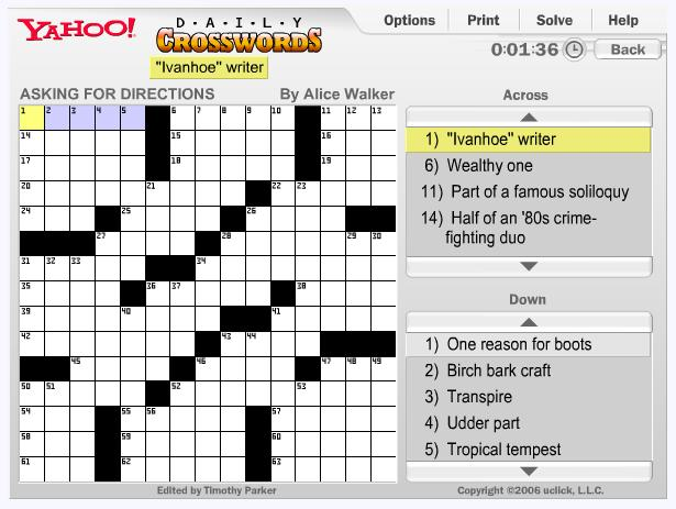 Crossword Puzzles Play Free Online Crossword Puzzle Games Crossword