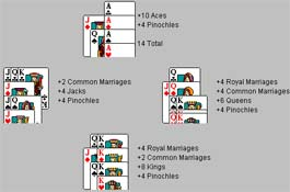 pinochle card games double deck play