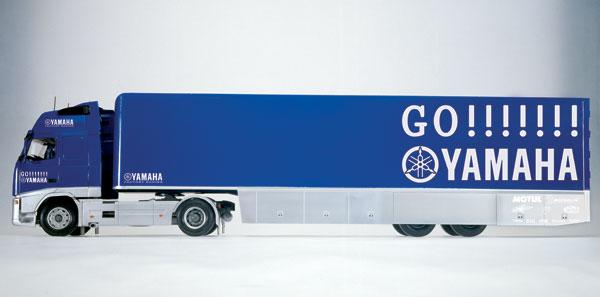 Yamaha Racing Team Truck Trailer with Bike Yamaha Race team trailer truck with Valentino Rossi ...