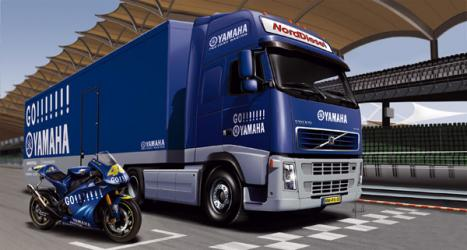 Yamaha Racing Team Truck Trailer with Bike