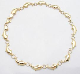 Yellow Gold Dolphin Bracelet