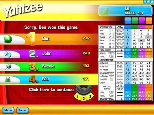 yahtzee online multiplayer